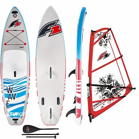 F2 Wave 11'5 Red WindSUP F2 CHECKER RIG komplet - nafukovací paddleboard a windsurfing
