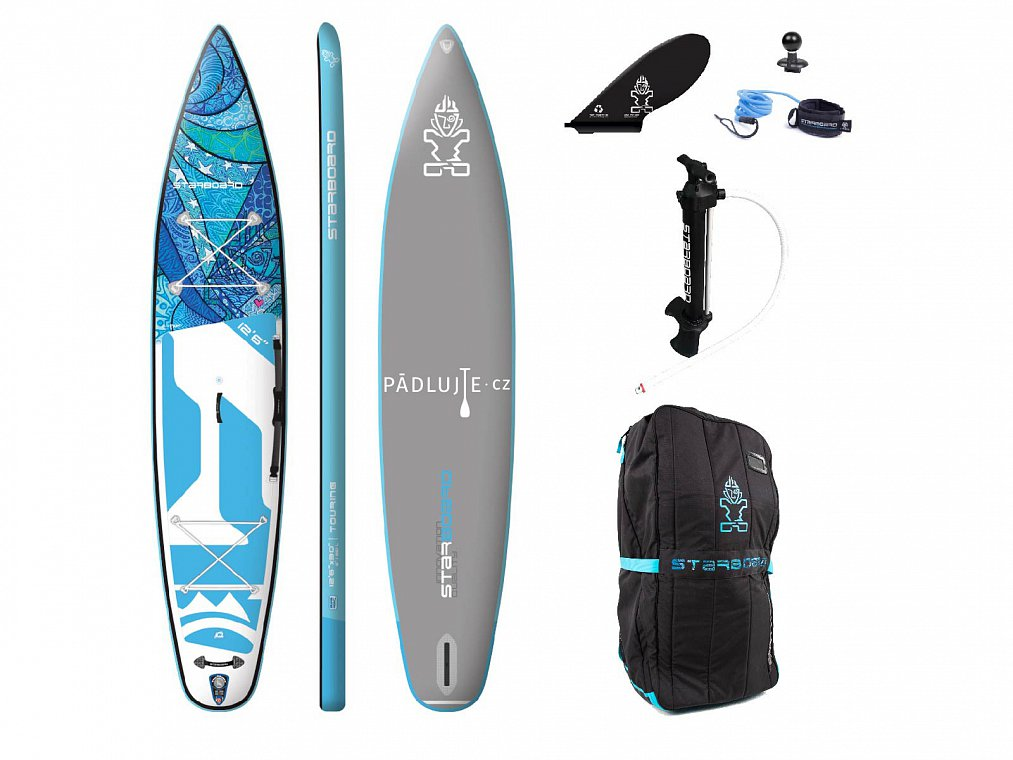 STARBOARD TOURING TIKHINE 12'6 WAVE Delux - nafukovací paddleboard