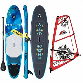 AZTRON SOLEIL 11'0 WindSUP F2 CHECKER RIG komplet - nafukovací paddleboard a windsurfing