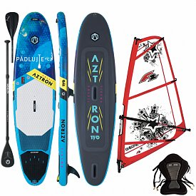 AZTRON SOLEIL 11'0 WindSUP F2 CHECKER RIG komplet combo - nafukovací paddleboard a windsurfing