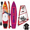 AZTRON SOLEIL XTREME 12'0 WindSUP F2 CHECKER RIG komplet combo - nafukovací paddleboard a windsurfing