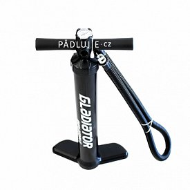 Pumpa GLADIATOR double action black - univerzální pumpa k paddleboardu