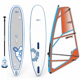 KONA One Air 11'5 WindSUP STX PowerKid komplet - nafukovací paddleboard a windsurfing